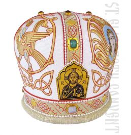 Mitre with Embroidered Symbols of the Holy Evangelists
