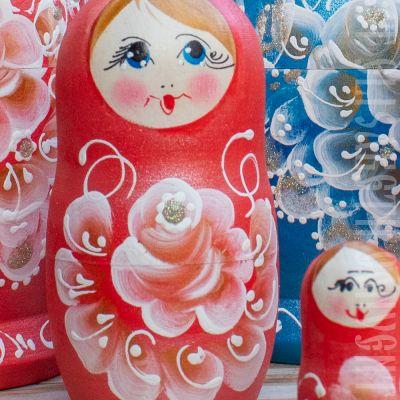 wooden Russian Doll , souvenir, matryoshka, folk toy