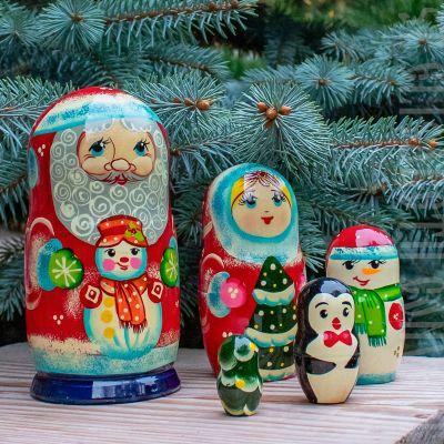 Matryoshka Russian Santa