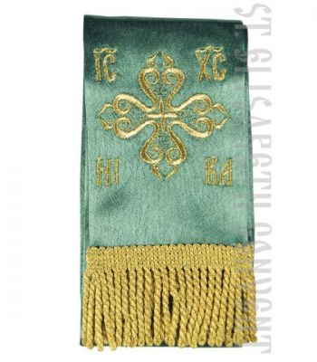 White-and-Gold narrow Bookmark for the Epistle or Holy Gospel Book